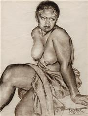 Sale 8631 - Lot 2024 - Wim Wanden Kersten (1908 - 1974) - Seated Nude, Tahiti 1944 62 x 46cm