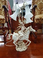Sale 8700 - Lot 1022 - Rearing Horse Table Lamp