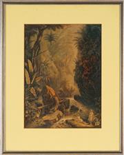 Sale 8773A - Lot 5020 - George Baxter (1804 - 1867) - Arcadia 36 x 26.5cm