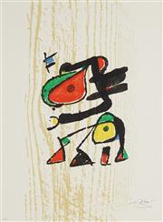 Sale 8847 - Lot 593 - Joan Miro (1893 - 1983) - Graveur (Suite) 60.5 x 44cm