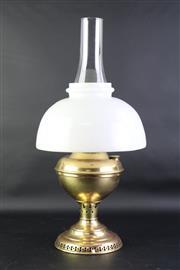 Sale 8832 - Lot 84 - A Miller Juno Kerosene Lamp w/shade