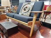 Sale 8863 - Lot 1039 - Timber Two Seater Bench with Cushions