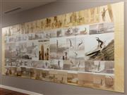 Sale 8904H - Lot 18 - KEN MIDDLETON - Surf Culture, Parts 1-4 Height 170cm x Total Length 391cm x Each panel 97.5cm
