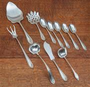 Sale 9071H - Lot 88 - A group of US sterling silver by the International Silver Co, Simpson, Hull, Miller & Co & Meriden CT Early C 20th includes mainly s...