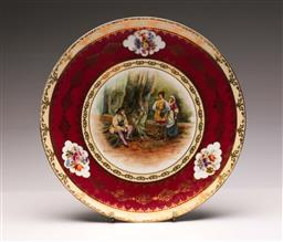 Sale 9104 - Lot 84 - A Royal Vienna Cabinet Plate Marked Walter Paget (Dia 37cm)