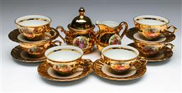 Sale 9144 - Lot 67 - A Bavarian part miniature tea suite