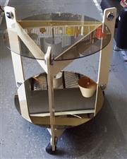 Sale 8320 - Lot 803 - 2 tiered glass circle coffee table circa 1970s