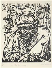 Sale 8492A - Lot 5075 - Vic OConnor (1918 - 2010) - The Concierge, 1980 26.5 x 22cm