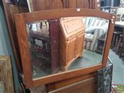 Sale 8593 - Lot 1072 - Timber Framed Bevelled Edge Mirror