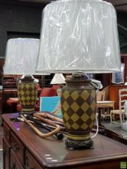 Sale 8620 - Lot 1028 - Belgium Lamp with Chess Board Design (3455)
