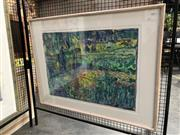 Sale 8789 - Lot 2136 - Audrey Bernays - Close to the Water 1996, monotype, frame size: 77 x 102, inscribed verso