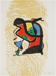 Sale 8847 - Lot 594 - Joan Miro (1893 - 1983) - Graveur (Suite) 60.5 x 44cm