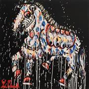 Sale 8880A - Lot 5074 - Yosi Messiah (1964 - ) - Golden Racer 85 x 85 cm
