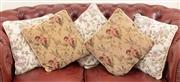 Sale 8926K - Lot 19 - A group of five floral cushions