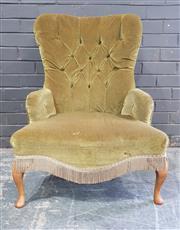 Sale 8959 - Lot 1048 - Buttoned Back Lounge Chair (H:86 x W:60cm)