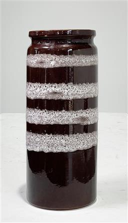 Sale 9151 - Lot 1065 - West German Glazed Ceramic Vase (h43 x d16cm) -