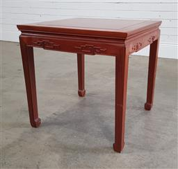 Sale 9191 - Lot 1078 - Chinese rosewood side table (h:55 w:56 x d:56cm)