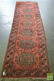 Sale 8371 - Lot 1095 - Afghan Hand Knotted Woollen Runner (300 x 85cm)