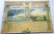 Sale 8639 - Lot 94 - Presentation Certificate of 1919 Victory Celebrations to commemorate the Signing of peace awarded at a Rowing Regatta, laid down on ...