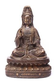 Sale 8719 - Lot 20 - Large Chinese Guanyin ( H 46cm)