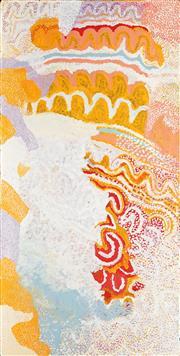 Sale 8786 - Lot 570 - Sarah Daniels Napanangka (1935 - ) - Mina Mina 150 x 75cm (stretched and ready to hang)