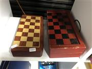 Sale 8819 - Lot 2395 - 2 Chess Games, one missing pieces