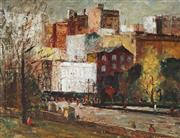 Sale 9013 - Lot 584 - George Feather Lawrence (1901 - 1981) - City Buildings, 1958 33 x 44 cm (frame: 48 x 60 x 3 cm)