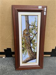 Sale 9028 - Lot 2086 - D Pianaar The Sleeping Leopard acrylic 28 x 60cm signed - D Pianaar The Sleeping Leopard acrylic 28 x 60cm signed -