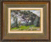 Sale 8394 - Lot 556 - Douglas Richardson (1853 - 1932) - On the Hill, Oakleigh 18.5 x 27cm