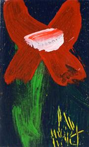 Sale 8449A - Lot 576 - Kevin Charles (Pro) Hart (1928 - 2006) - Flowers 11 x 7cm