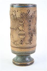 Sale 8832 - Lot 46 - Studio Potted Vase Marked Koch H: 15cm