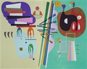 Sale 8821A - Lot 5086 - After. Wassily Kandinsky (1866 - 1944) - Derrière le Miroir; Kandinsky (no. 179), 1969 38 x 28cm (each lithograph 38 x 56cm gatefold...
