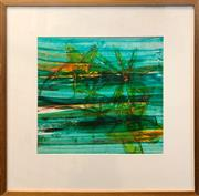 Sale 8878 - Lot 2013 - Attributed to Sidney Nolan Flowers oil on paper, 73 x 74.5cm, unsigned -