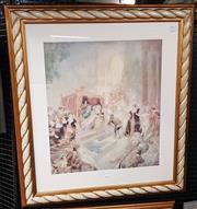 Sale 9019 - Lot 2011 - Norman Lindsay City of Joy Decorative Print (frame: 92 x 82cm)