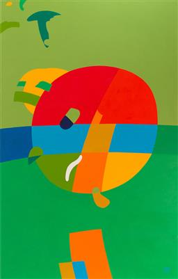 Sale 9150 - Lot 532 - RICHARD SWINHOE Abstract, 2006 oil on canvas 184 x 117 cm signed and dated lower right
