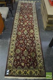 Sale 8361 - Lot 1025 - Indo Persian Kashan (300 x 80cm)