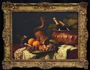 Sale 8401 - Lot 577 - Edouard Van Den Bosch (1828 - 1878) - Still Life and Squirrel 31 x 43cm