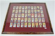 Sale 8422 - Lot 68 - Cricket Themed Cigarette Cards in Frame