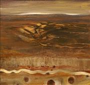 Sale 8648B - Lot 2045 - George Voudouris (1921 - 1999) - Pilbara Mountain Ranges and Rivers, Western Australia 47 x 50cm