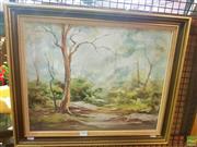 Sale 8640 - Lot 2098 - Mavie Noss The Enchanted Forest oil on board, 50 x 60cm (frame), signed lower left
