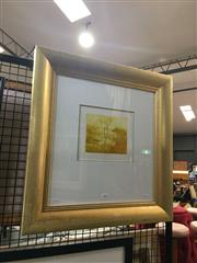 Sale 8702 - Lot 2020 - Artist Unknown - Landscape colour etching, 56. 5x 55.5cm (frame) unsigned