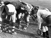 Sale 8754A - Lot 56 - Epping Boys' High School Team, Marsfield, Sydney, NSW, 1969 - Ken Catchpole leads a practice scrum 16 x 21cm