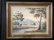 Sale 8807 - Lot 2073 - Ray Williamson, Moonlight Yarra Valley, oil on board, frame size: 65 x 88, signed lower left