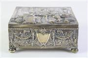 Sale 8897 - Lot 27 - A German 800 Silver Box with An Inn (Pub) Scene