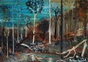 Sale 8976A - Lot 5044 - Matthew Perceval (1945 - ) - Long Gullt Burnt Out, 1962 45.5 x 65 cm (frame: 54 x 73 x 4 cm)
