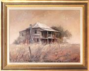 Sale 9038 - Lot 596 - John Lovett (1953 - ) - Country Cottage 85.5 x 115.5 cm (frame: 115 x 144 x 4 cm)