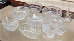 Sale 9155H - Lot 10 - A quantity of moulded glasswares including bowls. Largest Diameter 21cm