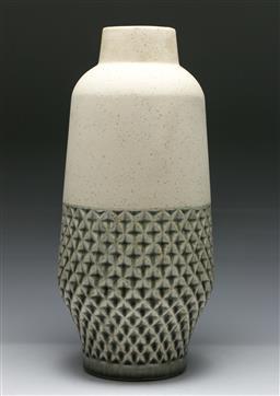Sale 9148 - Lot 36 - A large studio potted vase (H 43cm)