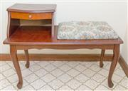 Sale 8346A - Lot 213 - A retro telephone table with upholstered seat