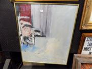Sale 8437 - Lot 2081 - Framed Painting on Board Abstract Bird